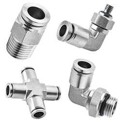 316 stainless steel push in fittings, 316 pneumatic fittings