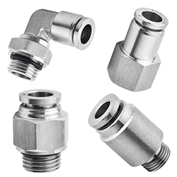 316 stainless steel push in fitting,G, BSPP thread