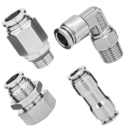 316L stainless steel push in fittings, 316L SUS pneumatic fittings