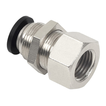 bulkhead female connector, bulkhead female straight, push in fitting