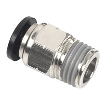 male connector, male straight, push in fitting
