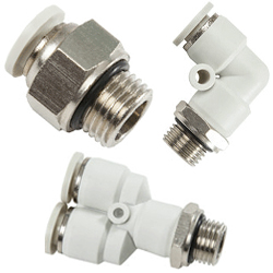 gray push in fittings for metric inch tubing, G thread