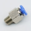 1/16 NPT Male Straight Connector Push in Fitting from PNEUFLEX