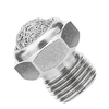 G 1/8 Thread Stainless Steel Silencer with Wire Mesh