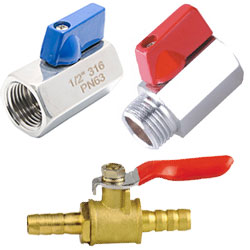 brass mini ball valves, stainless steel mini ball valves