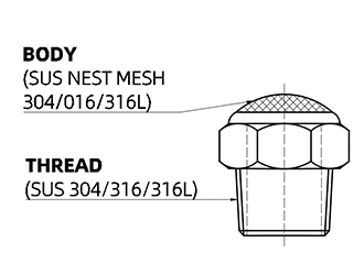 specification of stainless steel silencer with mesh